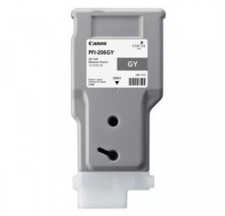 Canon iPF6450 Grey Ink Cartridge / Canon PFI-206GY Grey Ink Tank - 5312B001AA