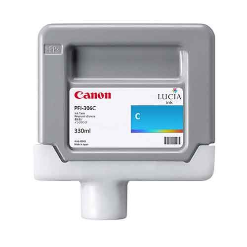 Canon iPF8400SE Cyan Ink Cartridge - Genuine Canon PFI-306C Ink  - 6658B001AA