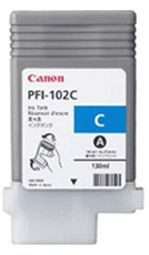 Canon iPF650 Cyan Ink Cartridge - Genuine Canon PFI-102C Ink Cartridge - Genuine 0896B001AA