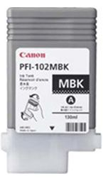 Canon iPF650 Matte Black Ink Cartridge - Genuine Canon PFI-102MBK Ink  - 0894B001AA